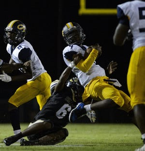 Gray's Creek senior Robert Burks (6) has been a consistent force in the secondary for the Bears' defense.
