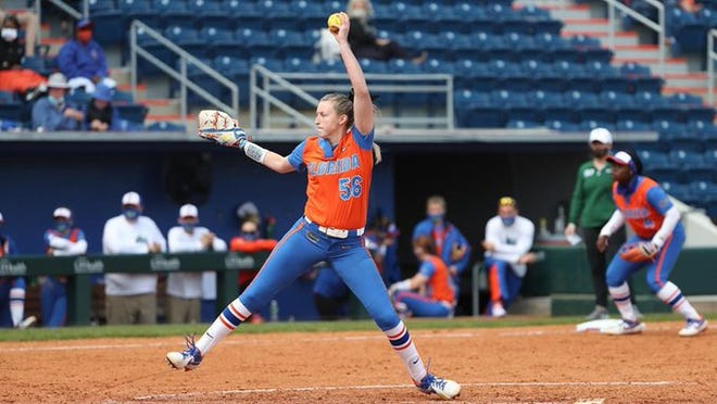 Florida ace Katie Chronister improves to 4-0 on Sunday.