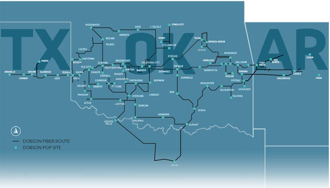 Dobson Fiber's acquisition of Pinnacle increases its fiber route to over 4,500 miles, expanding network operations into Arkansas and increasing its addressable business market to over 35,000 locations.