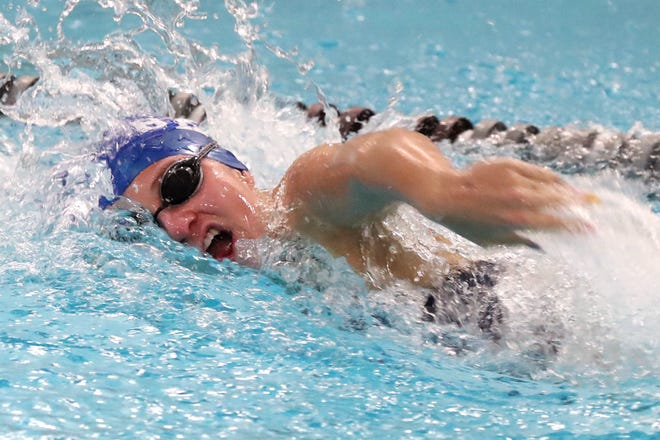 Senior Elaine Smith concluded her Ready career by finishing fourth in the 500 free and sixth in the 200 free in the Division II district meet Feb. 18 at Bowling Green.