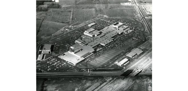 Eastland Mall, shown in an aerial view, opened Feb. 14, 1968, and was the first enclosed mall in Columbus. The Richard E. Jacobs Group was the developer of Eastland and Columbus' other two directional malls, Northland in 1964 as an open-air shopping center and Westland in 1969. Eastland's original anchor stores included JCPenney, Sears and Lazarus.