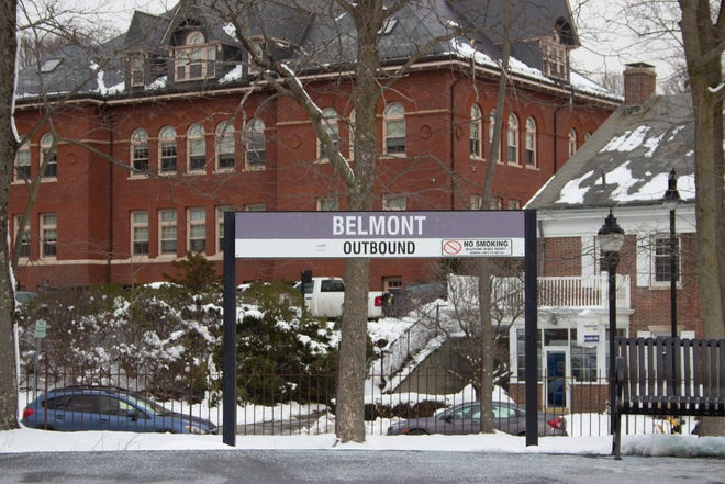 Belmont Station Facing Concord Avenue in Belmont.