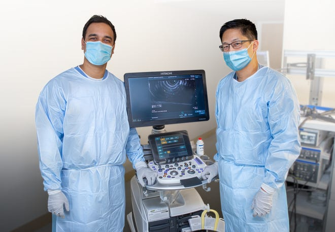 Pictured from left: Dr. Arpan H. Patel, of Middlesex Digestive, and Dr. Marvin Ryou, of Emerson Hospital.