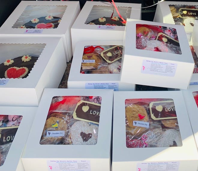 The Cake and Delivery Fairies of Carriagetown have been delivering cakes to over 25 businesses nominated for a special Bake Fairy Delivery for Valentine's Day.