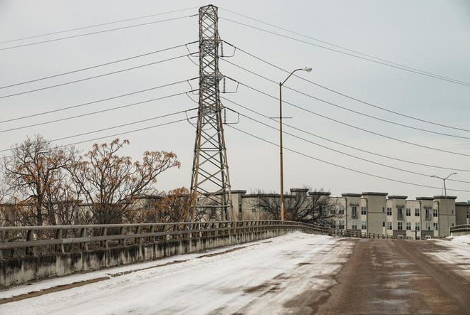Power lines near Greenville Avenue in Dallas during this week's winter storm that left millions of Texans without power.