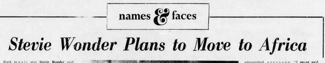 Detroit Free Press headline from March 15, 1974.