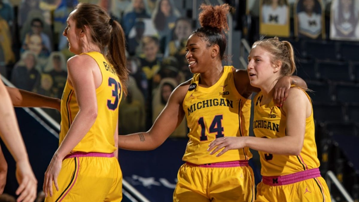 Michigan women slide one spot to No. 12 after wins over rivals, but loss to IU 2