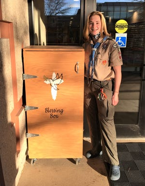 Eagle Scout Raegen Schwarz Appleton  created a blessing box to serve as a free pantry at First United Methodist Church In Appleton. The Appleton North freshman is among Wisconsin's first female Eagle Scouts. In 2019 the Boy Scouts of America allowed young women become Eagle Scouts.