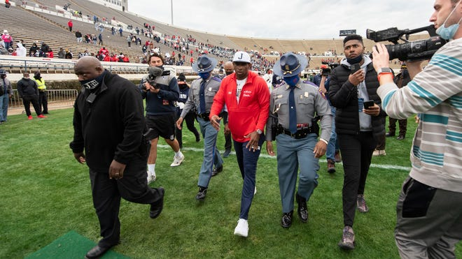 Jackson State Gives Deion Sanders First Swac Win Over Grambling State