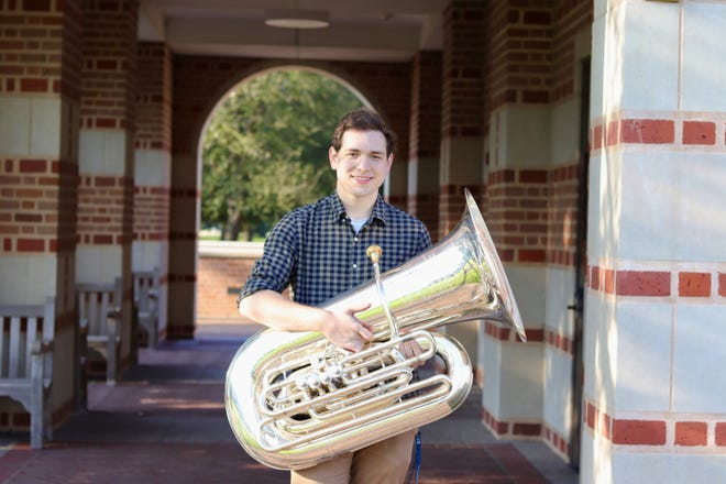 Tubist Robert Black is the youngest member of the Milwaukee Symphony Orchestra. He turns 20 in March.