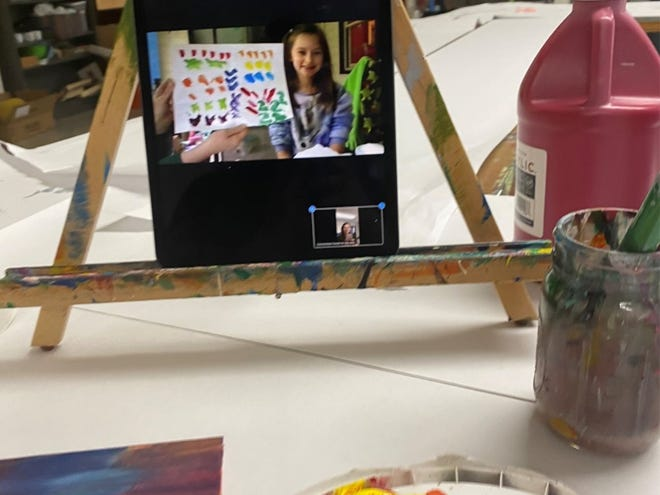 Many art education classes through Cornerstone Center for the Arts have shifted to virtual. A $55,000 grant to Cornerstone Center for the Arts during the first quarter of 2021 will support operational expenses and make technological updates to the historical building.