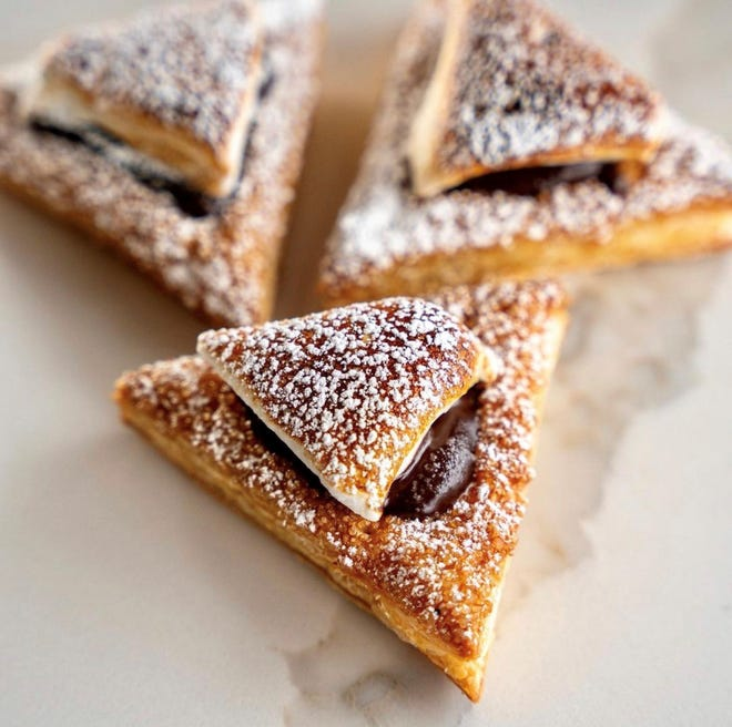 S'mores hamantaschen are available at Patis Bakery in Lyndhurst, New Jersey.