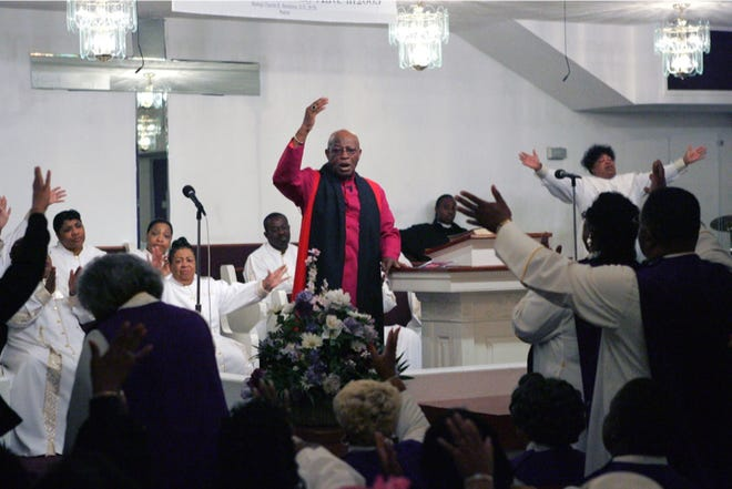 Bishop Charlie Simmons, a pastor at Mount Calvary Holy Church for more than five decades, died in January. He was 86.