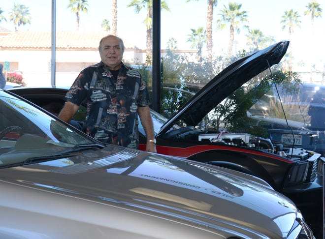 Bob Arzano of One Eleven Vintage Cars has been offering a variety of cars both on South Palm Canyon and at the weekend fair at College of the Desert.