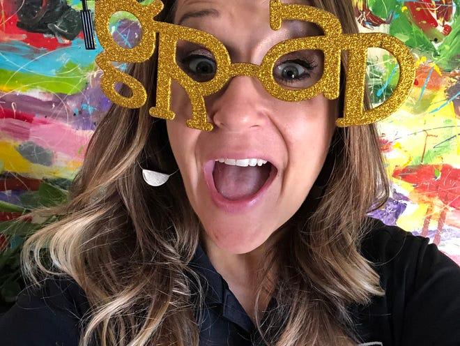 Shadow Hills High School Activities Director Mary Alexander rocks her glasses!