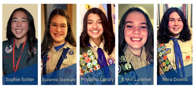 Five Reno girls graduated Sunday in the Boy Scouts of America's inaugural class of female Eagle Scouts.