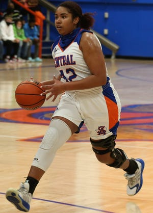 San Angelo Central High School's Layla Young competes against Frenship earlier in the 2020-21 season.