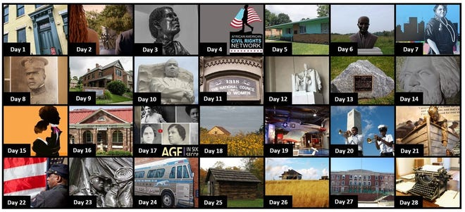 The National Park Service Black History Month 2021 Calendar, as seen on the NPS website.