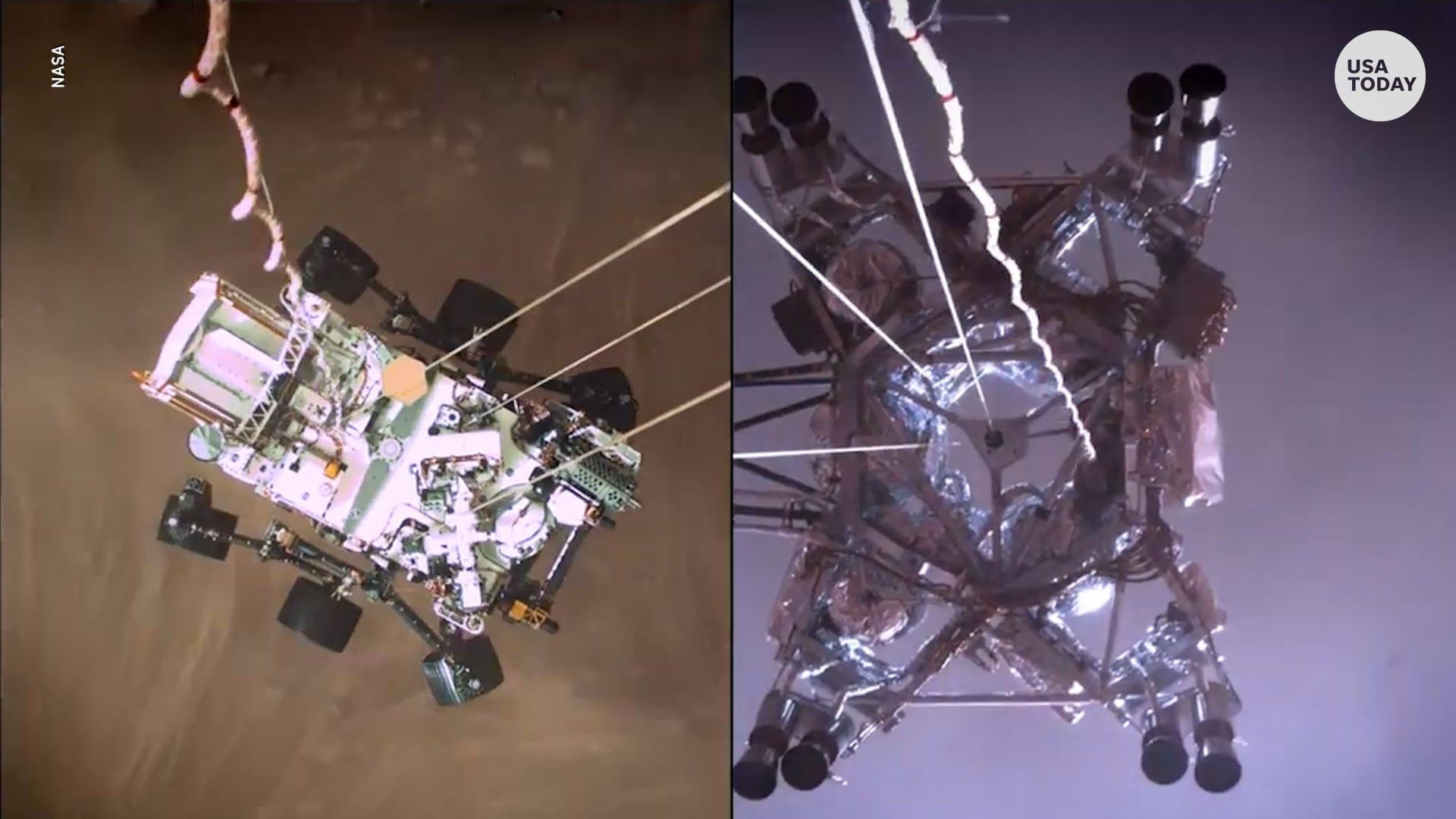 "NASA reveals a new Mars descent video of the Perseverance rover landing, ""Tango Delta!"""