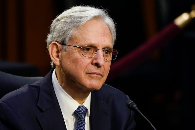 Attorney General nominee Merrick Garland at his confirmation hearing before the Senate Judiciary Committee on Monday.