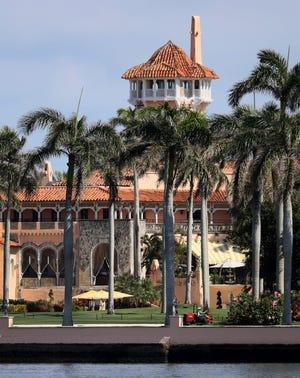 Former President Donald Trump's Mar-a-Lago resort on Feb. 10, 2021, in Palm Beach, Florida.