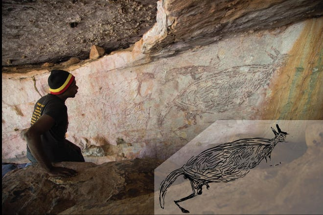Australia's oldest rock painting is of a kangaroo