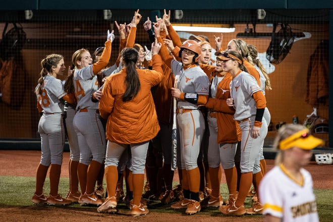 Texas Longhorns celebrates their win over Wichita State during the Texas Classic last season. The Longhorns opened the season Sunday with two wins at the Scrap Yard Blizzard Challenge in Conroe.