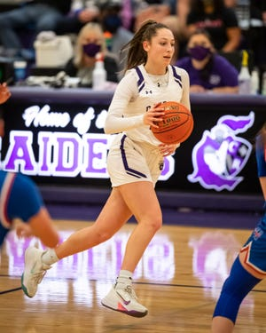 Alex Neimeth and the Cedar Ridge girls basketball team lost in the second round to state-ranked San Antonio Clark Monday. Neimeth will be part of a large group of returning talent for the Raiders next season.