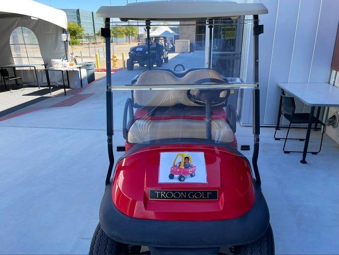 Terry Francona golf cart