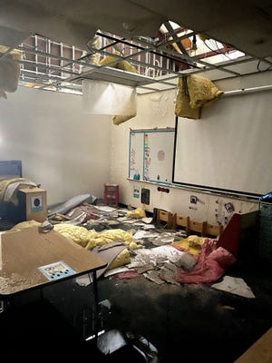 In the meantime, teachers at the Education Center are working to salvage their classrooms and prepare for the return of students.