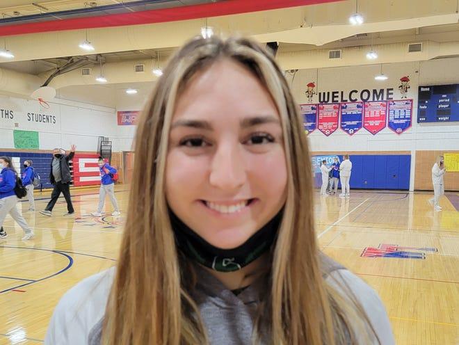 Seneca senior Jorja Cooper is a member of the 2021 Golden Eagles basketball team