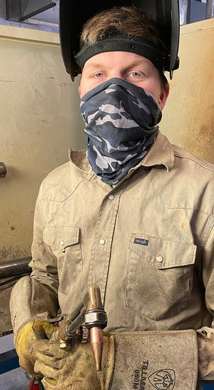 Caden Amos is a welding technology student at TSTC.