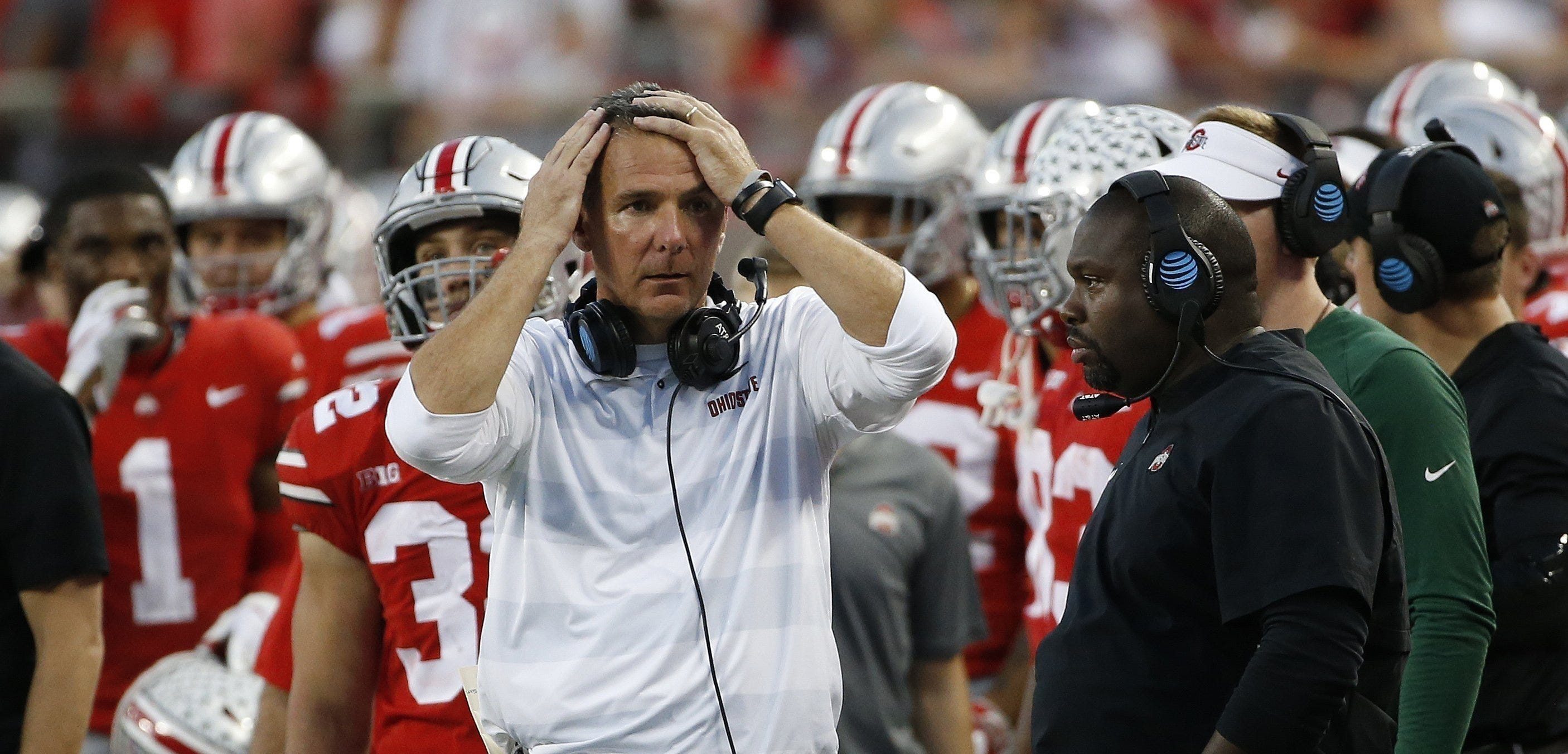 Urban Meyer dealt with severe headaches, caused by an arachnoid cyst, at times during the 2018 season, including in an October game against Indiana.