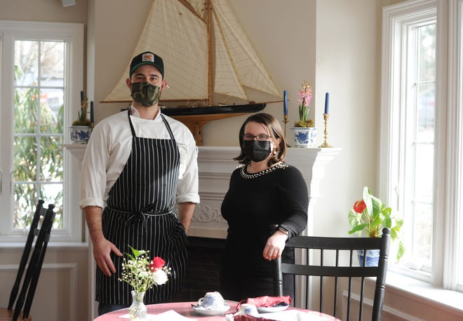 Kate Wolstenholme, right, is the new owner of the Dunbar House Tea Room & Wine Bar. Patrick Hurley is the new executive chef at the Sandwich restaurant.