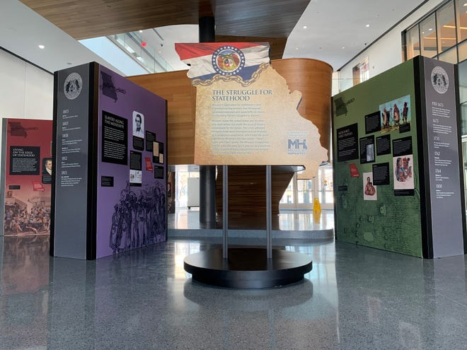 """""""Struggle for Statehood"""" exhibit at the State Historical Society of Missouri Center for Missouri Studies."""