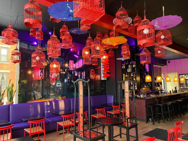 The interior of Běndì Wok n' Bar, which will open March 5 in the site of the former Happy Dragon restaurant.