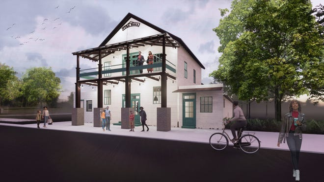 New Orleans architectural designers Eskew Dumez Ripple unveiled this rendering of the True Friends Benevolent Association Hall in Donaldsonville.