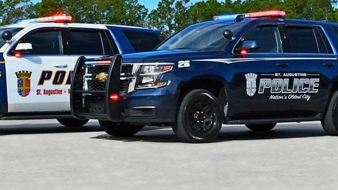 St. Augustine Police Department vehicles