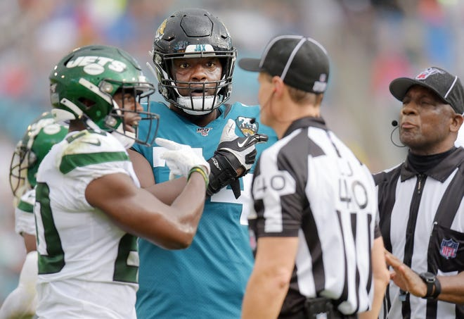 Offensive tackle Cam Robinson could hit the open market as a free agent on March 17  if the Jaguars don't apply the franchise tag or sign him to an extension. Bob Self/Florida Times-Union