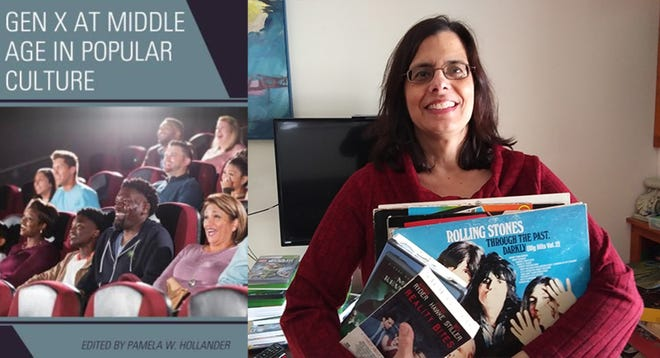 """Grafton resident Pamela W. Hollander, right, edited the new book """"Gen X at Middle Age in Popular Culture."""""""