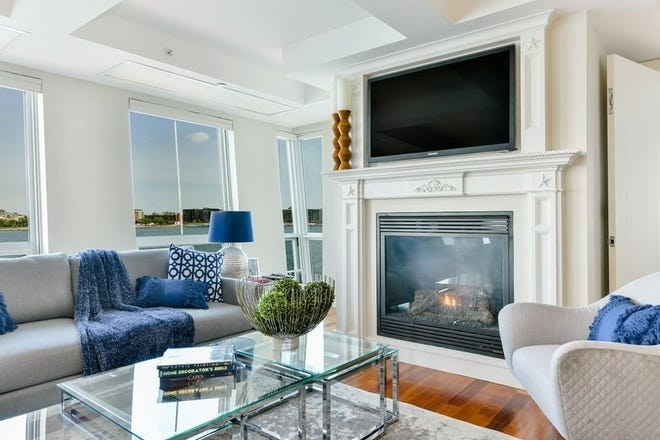 Residents at Rowes Wharf on the Waterfront enjoy the great views of the Boston Harbor.