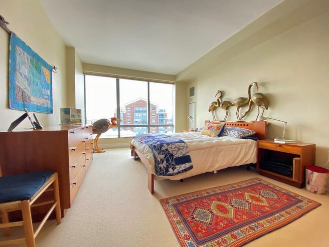 With walls of windows, bedrooms are bright and spacious and have ample closet space.