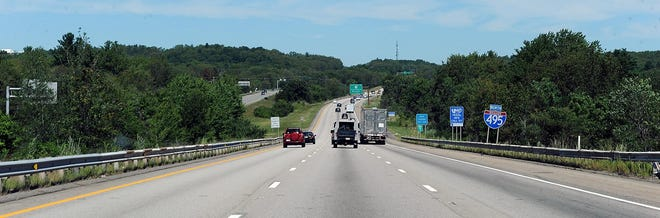 Daytime traffic heads northbound on Interstate 495 in Southboro.