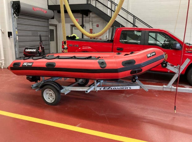 """Kittery Fire Department is purchasing a Zodiac Milpro fire boat after a """"substantial donation"""" to the department by the mother of a late Kittery resident."""