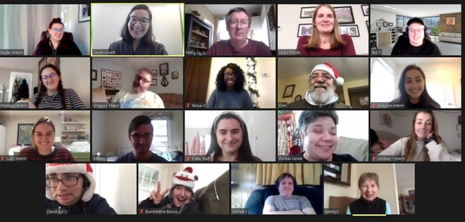 Even though Krempels Center members and interns were unable to collaborate in-person last fall, the two groups still forged close bonds through virtual programming.