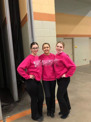 From left, seniors Claire Southward, Cindy Truong and Aubree Tasler. The PHS Pulse Dance Team members auditioned and were selected for the All-Iowa Honor Dance Team.