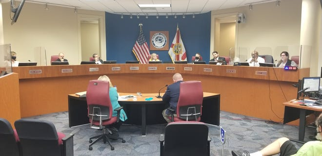 A file photo of a Manatee County commissioners meeting from early 2021. Manatee County municipalities are discussing plans for their share of American Rescue Plan funds.