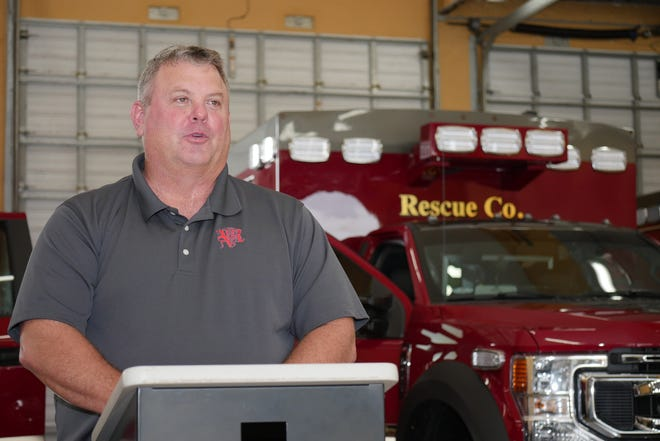 Venice Fire Rescue Chief Shawn Carvey, shown here in September 2020, said Tuesday that the local control was one reason it could participate in the state pilot program to administer COVID-19 vaccines to homebound residents.