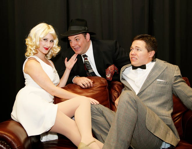 """Robby May-Place, center, as Max Bialystock starred in the Players Centre production of """"The Producers"""" in 2011 with Libby Fleming, left, as Ulla and Steve Jaquith as Leo Bloom."""