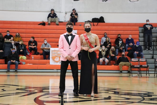 Bradley Hall and Jerzie Belleville, pictured as part of the Rudyard Sweethearts Court of 2021.